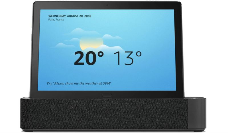 Lenovo's Smart Tab acts as an Amazon Echo Show when in docked mode.