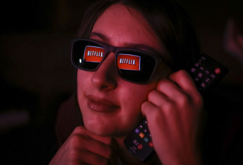 ANKARA, TURKEY - NOVEMBER 27: Netflix logo is reflected on a woman's eye glasses in Ankara, Turkey on November 27, 2018. (Photo by Ercin Top/Anadolu Agency/Getty Images)