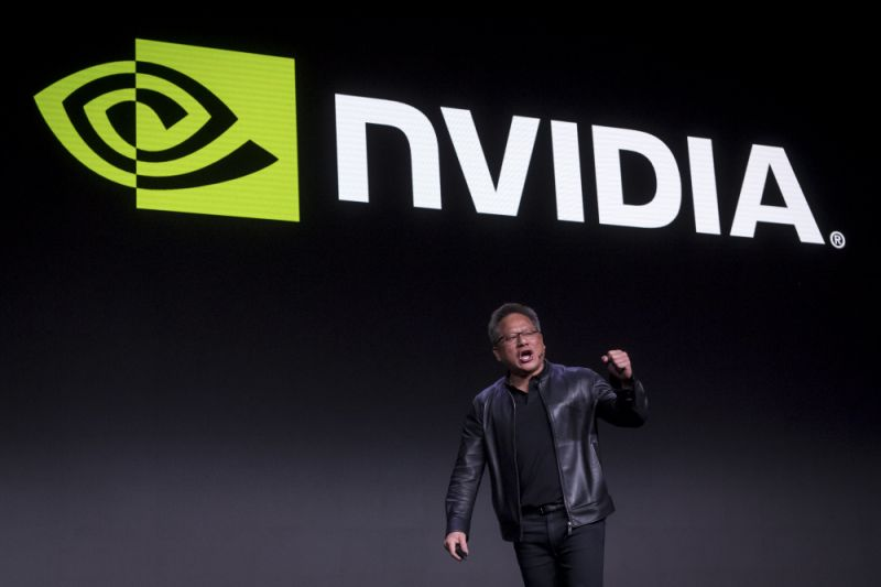 Jen-Hsun Huang, president and chief executive officer of Nvidia Corp., gestures as he speaks during the company's event at the 2019 Consumer Electronics Show (CES) in Las Vegas, Nevada, U.S., on Sunday, Jan. 6, 2019. CES showcases more than 4,500 exhibiting companies, including manufacturers, developers and suppliers of consumer technology hardware, content, technology delivery systems and more. Photographer: David Paul Morris/Bloomberg via Getty Images