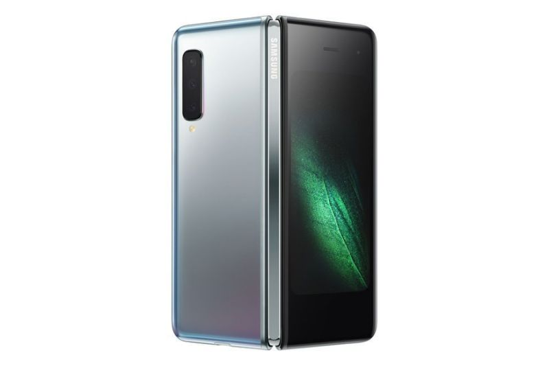 The rear of the Galaxy Fold is home to three cameras. Two additional cameras sit above the phone's large, tablet screen, while another sites on the front screen. (Samsung)