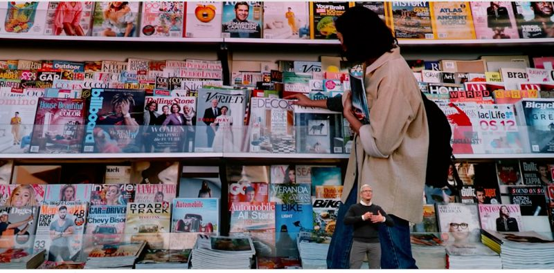 Apple's news service, Apple News Plus will cost $9.99 and give you access to hundreds of magazines, as well as newspapers. (image: Apple)