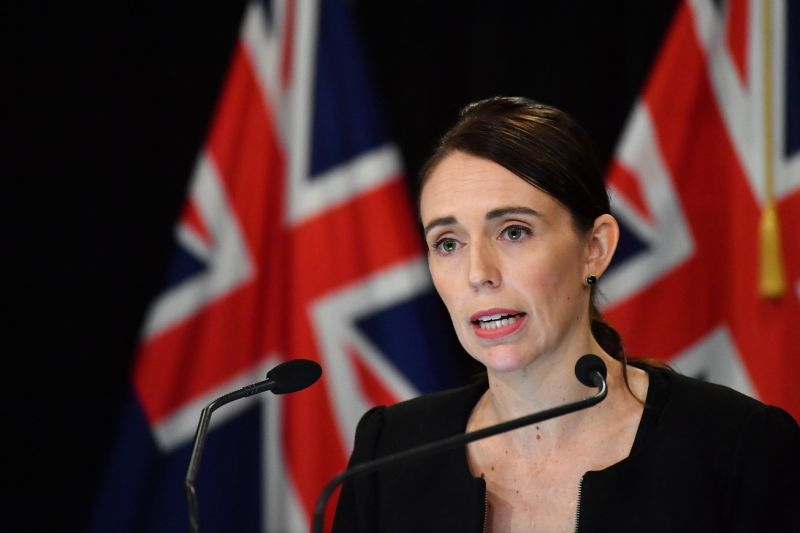 WELLINGTON, NEW ZEALAND - MARCH 16: New Zealand Prime Minister Jacinda Ardern addresses the media on March 16, 2019 in Wellington, New Zealand. At least 49 people are confirmed dead, with more than 40 people injured following attacks on two mosques in Christchurch on Friday afternoon. 41 of the victims were killed at Al Noor Mosque on Deans Avenue and seven died at Linwood mosque. Another victim died later in Christchurch hospital. Three people are in custody over the mass shootings. An Australian man has been charged with murder and will appear in court today. (Photo by Mark Tantrum/Getty Images)