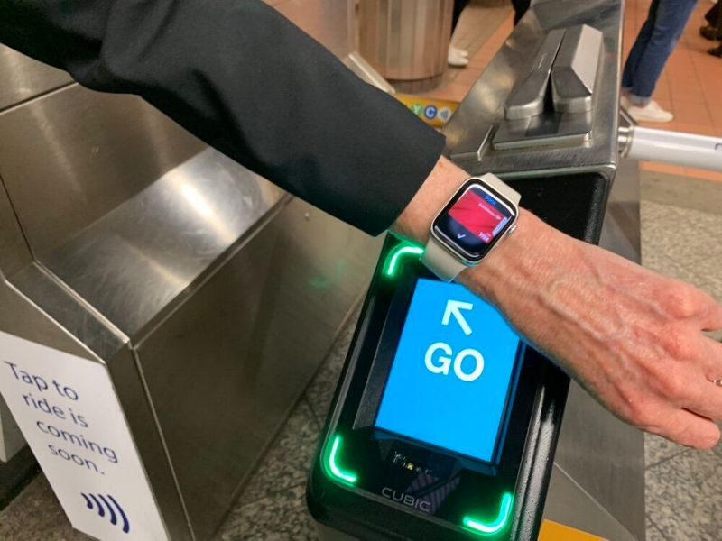 The country's largest transit system is getting contactless payments. So you'll soon be able to pay for the train with your phone or smartwatch. (Image: Howley)