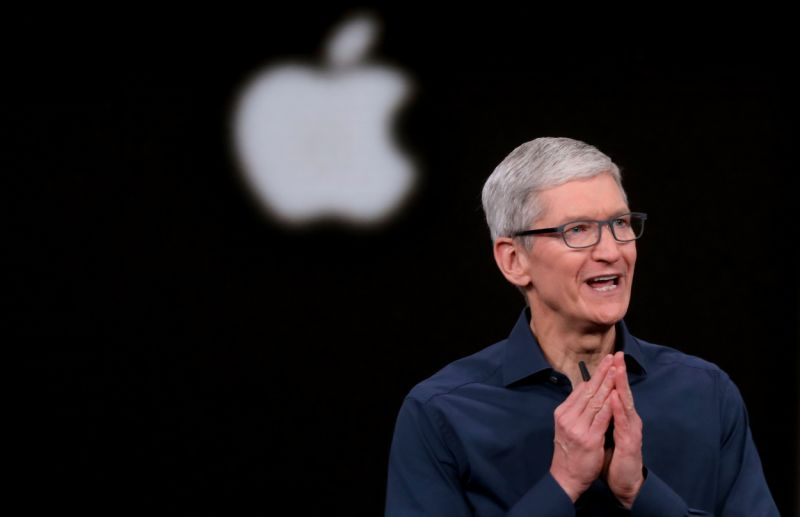 CUPERTINO, CA - SEPTEMBER 12: Tim Cook opens the Apple's annual product launch, Wednesday, Sept. 12, 2018, at company headquarters in Cupertino, Calif. (Karl Mondon/Digital First Media/The Mercury News via Getty Images)