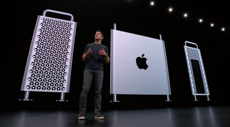 Apple introduced the all-new modular Mac Pro, available this fall, starting at $5,999. Source: Apple