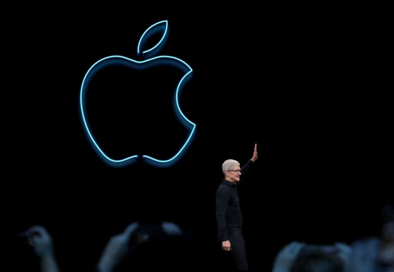 SAN JOSE, CALIFORNIA - JUNE 03: Apple CEO Tim Cook delivers the keynote address during the 2019 Apple Worldwide Developer Conference (WWDC) at the San Jose Convention Center on June 03, 2019 in San Jose, California. The WWDC runs through June 7. (Photo by Justin Sullivan/Getty Images)