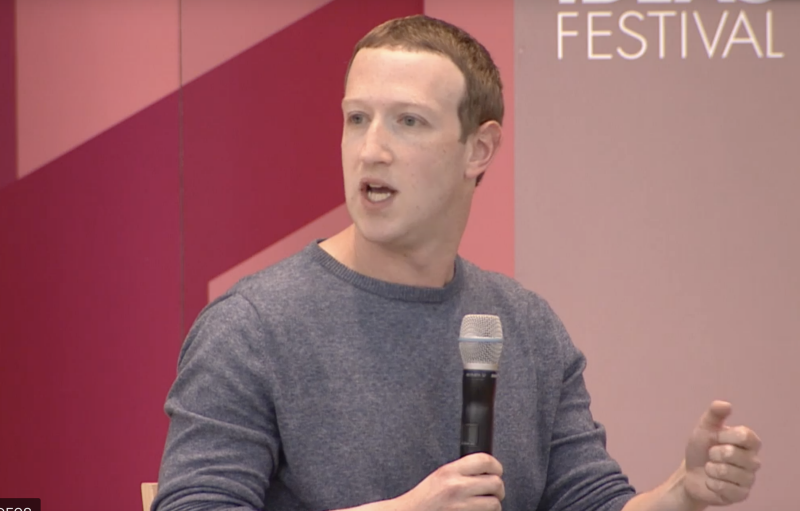 Facebook CEO Mark Zuckerberg pushed back at calls for his company to be broken up during an interview at the Aspen Ideas Festival. (Image: Aspen Ideas Festival)
