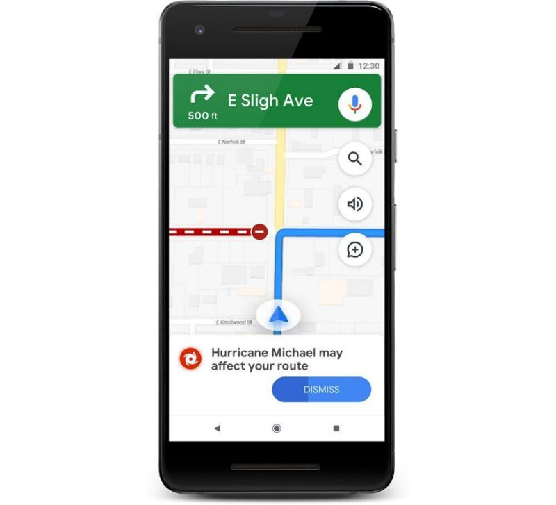 Google's SOS Alerts update will also tell you to avoid areas that might be impacted by disasters while navigating. (Image: Google)