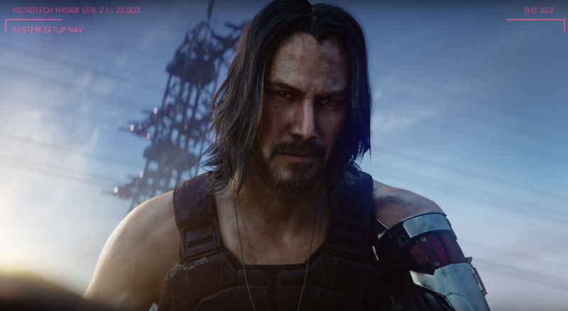 "Keanu Reeves stole the show at E3, revealing that he'll be staring in CD Projekt Red's highly-anticipated ""Cyberpunk 2077."" (image: CD Projekt Red)"