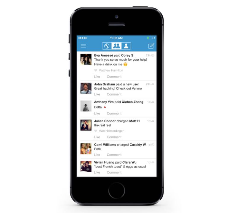 Venmo has a social feed that can really put a dent in your social life. (Image: Venmo)
