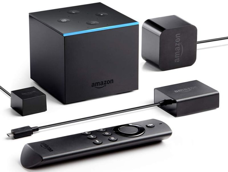The Fire TV Cube combines an Echo and a Fire TV in one tiny box. (Image: Amazon)