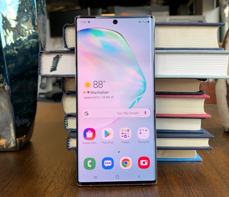 Samsung's Galaxy Note10+ is a huge smartphone with a boatload of functionality. (Image: Howley)