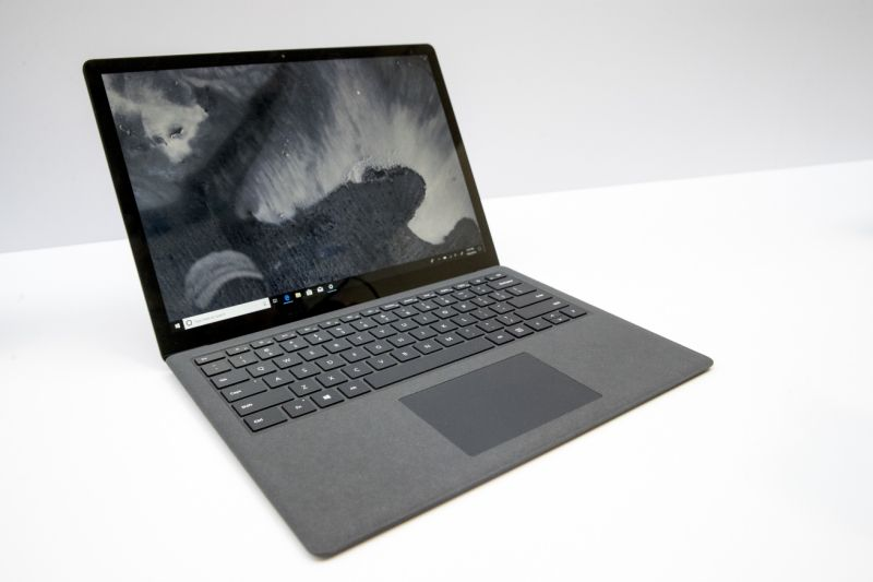 The Surface Laptop 2 is on display during a news conference, Tuesday, Oct. 2, 2018, in New York. (AP Photo/Mary Altaffer)