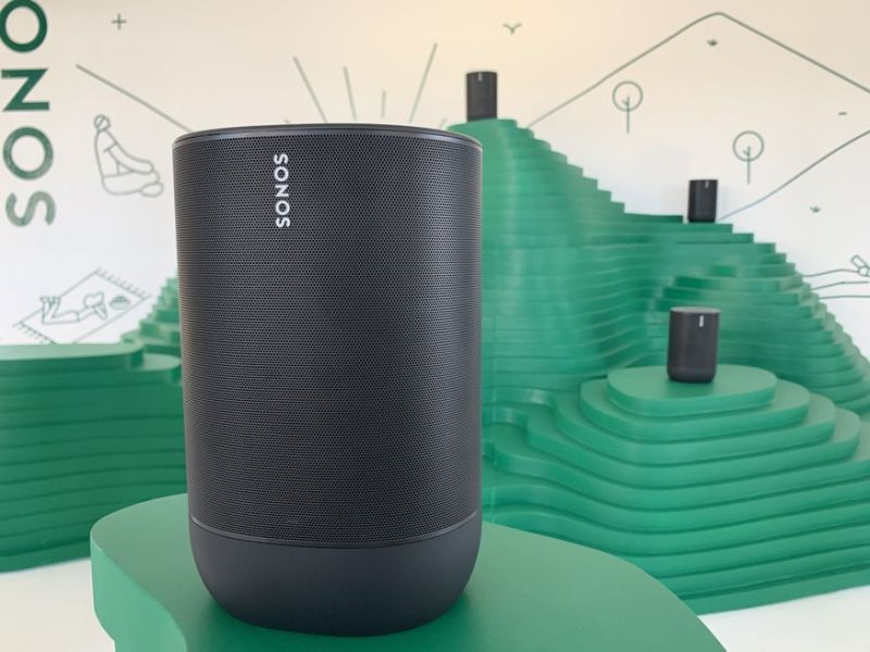 The Sonos Move is the company's first portable, Bluetooth speaker. And while it's expensive, it packs a powerful sonic punch. (Image: Howley)